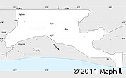 Silver Style Simple Map of Epe