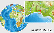 Physical Location Map of Ibeju/Lekki