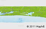 Physical Panoramic Map of Ibeju/Lekki