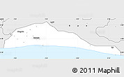 Silver Style Simple Map of Ibeju/Lekki