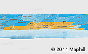 Political Shades Panoramic Map of Lagos