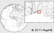 Blank Location Map of Shomolu