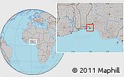 Gray Location Map of Shomolu