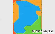 Political Simple Map of Shomolu