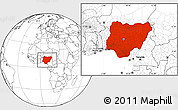 Blank Location Map of Nigeria