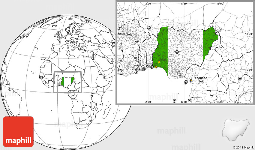 Flag location map of nigeria blank outside sciox Choice Image