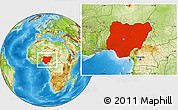 Physical Location Map of Nigeria