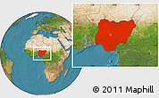 Satellite Location Map of Nigeria
