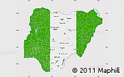 Flag Map of Nigeria