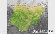 Satellite Map of Nigeria, desaturated