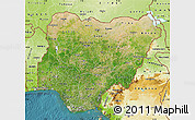 Satellite Map of Nigeria, physical outside, satellite sea