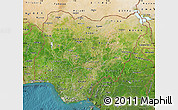 Satellite Map of Nigeria