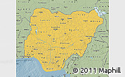 Savanna Style Map of Nigeria