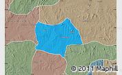 Political Map of Bosso, semi-desaturated