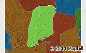 Political Map of Gbako, darken