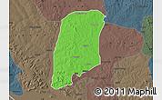 Political Map of Gbako, darken, semi-desaturated