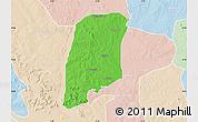 Political Map of Gbako, lighten