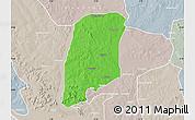 Political Map of Gbako, lighten, semi-desaturated