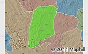 Political Map of Gbako, semi-desaturated