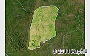 Satellite Map of Gbako, darken