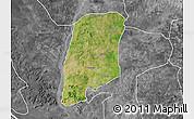 Satellite Map of Gbako, desaturated
