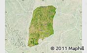 Satellite Map of Gbako, lighten