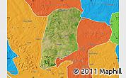 Satellite Map of Gbako, political outside