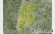 Satellite Map of Gbako, semi-desaturated