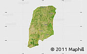 Satellite Map of Gbako, single color outside