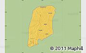Savanna Style Map of Gbako, single color outside