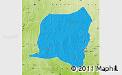 Political Map of Kontogur, physical outside