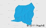 Political Map of Kontogur, single color outside
