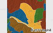 Political Map of Lavun, darken