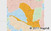 Political Map of Lavun, lighten