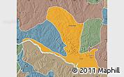 Political Map of Lavun, semi-desaturated
