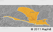 Political Panoramic Map of Lavun, desaturated