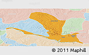 Political Panoramic Map of Lavun, lighten