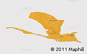 Political Panoramic Map of Lavun, single color outside