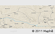 Shaded Relief Panoramic Map of Lavun