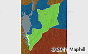 Political Map of Magama, darken