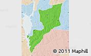 Political Map of Magama, lighten