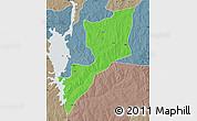 Political Map of Magama, semi-desaturated