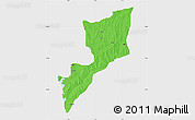 Political Map of Magama, single color outside