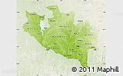 Physical Map of Niger, lighten