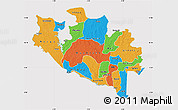 Political Map of Niger, cropped outside