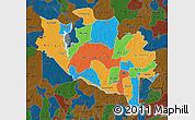 Political Map of Niger, darken