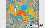 Political Map of Niger, semi-desaturated