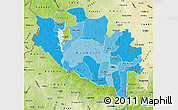Political Shades Map of Niger, physical outside