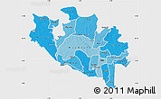 Political Shades Map of Niger, single color outside