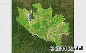 Satellite Map of Niger, darken